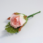 B1432 Corsage: Rose with Fern: 12pk - Choice of Colours